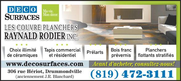 Couvre planchers r rodier les drummondville qc 306 for Rodier interieur