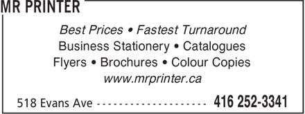Ads Mr Printer