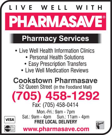 Pharmasave (705-458-1292) - Display Ad -