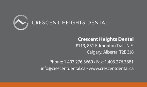 Crescent Heights Dental Clinic (403-276-3660) - Annonce illustrée======= -