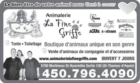 Ads Animalerie La Fine Griffe