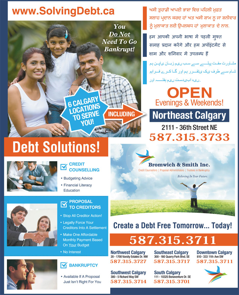 Bromwich & Smith Inc (403-266-6665) - Display Ad -