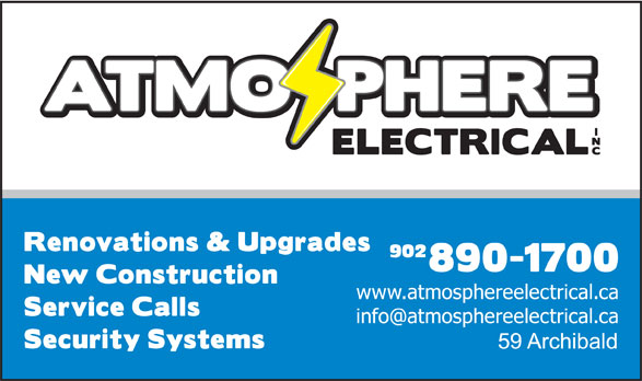 Atmosphere Electrical Inc (902-890-1700) - Display Ad - 902