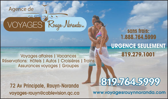Ads Agence De Voyages Rouyn-Noranda