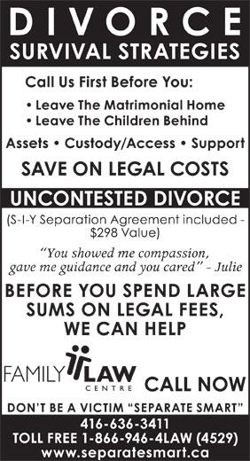 Family Law Centre (416-636-3411) - Annonce illustrée======= -