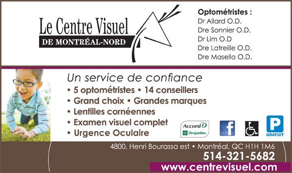 Le Centre Visuel De Montréal-Nord (514-321-5682) - Display Ad - P GRATUIT