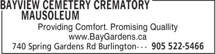 Ads Bayview Cemetery Crematory Mausoleum