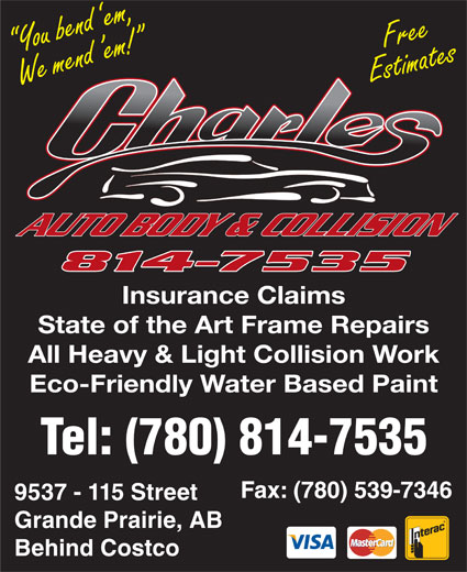 Charles Autobody Collision Ltd (780-814-7535) - Display Ad -