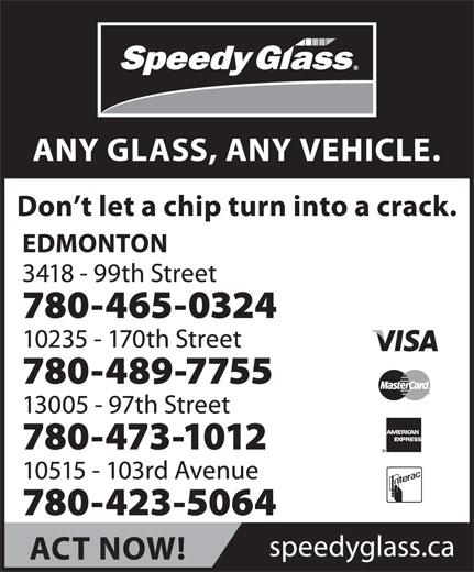 Speedy Glass (780-465-0324) - Display Ad -