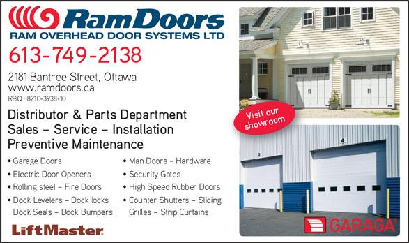 Ram Overhead Door Systems Ltd (613-749-2138) - Display Ad - RAM OVERHEAD DOOR SYSTEMS LTD