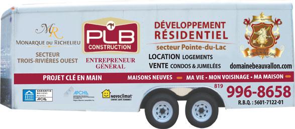 PLB Construction (819-996-8658) - Display Ad - LOCATION SECTEUR LOGEMENTS ENTREPRENEUR TROIS-RIVIÈRES OUEST VENTE  CONDOS & JUMELÉES GÉNÉRAL 819 996-8658