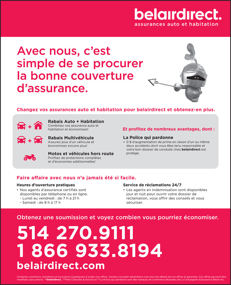 belairdirect (514-270-9111) - Display Ad -