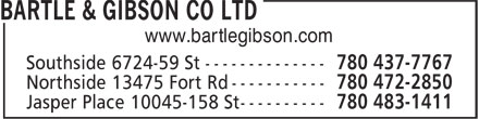 Bartle & Gibson (780-472-2850) - Display Ad - www.bartlegibson.com