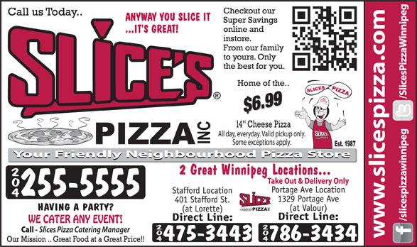 Slices Pizza (204-255-5555) - Annonce illustrée======= -