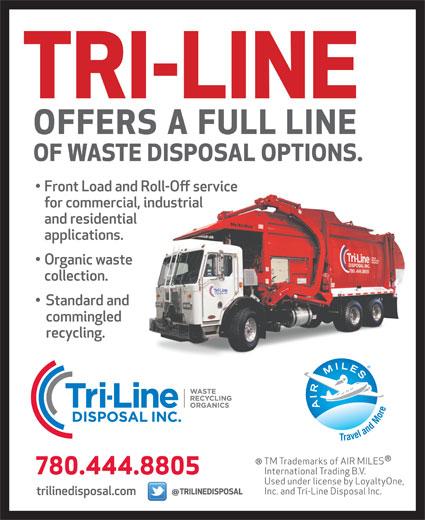 Tri-Line Disposal Inc (780-444-8805) - Display Ad -