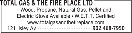 Total Gas & The Fire Place Ltd (902-468-7950) - Annonce illustrée======= - Wood, Propane, Natural Gas, Pellet and Electric Stove Available • W.E.T.T. Certified www.totalgasandthefireplace.com