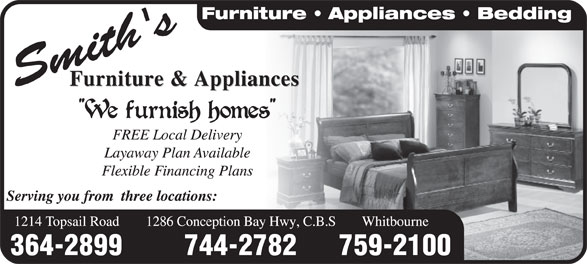 Smith's Furniture & Appliances (709-364-2899) - Display Ad -