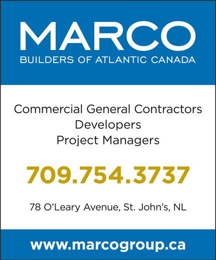 Marco Group (709-754-3737) - Annonce illustrée======= -