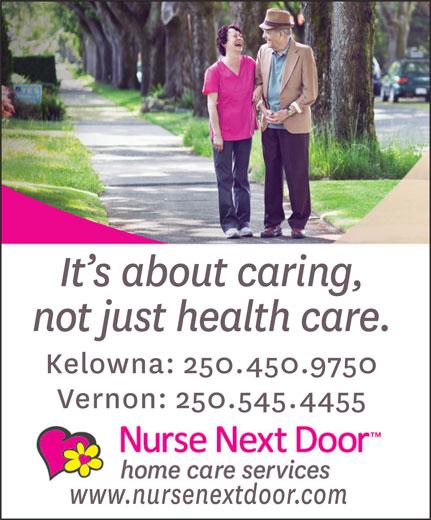 Nurse Next Door (250-450-9750) - Annonce illustrée======= -