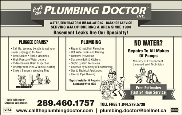 Call The Plumbing Doctor Opening Hours On