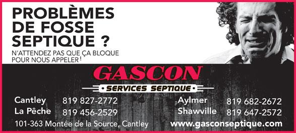 gascon service septique 101 363 mont e de la source cantley qc. Black Bedroom Furniture Sets. Home Design Ideas