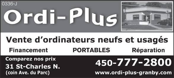 Ordi-Plus (450-777-2800) - Annonce illustrée======= -