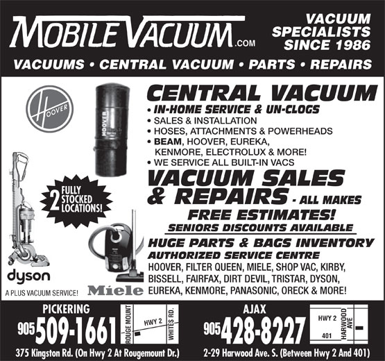 Mobile Vacuum 375 Kingston Rd Pickering On