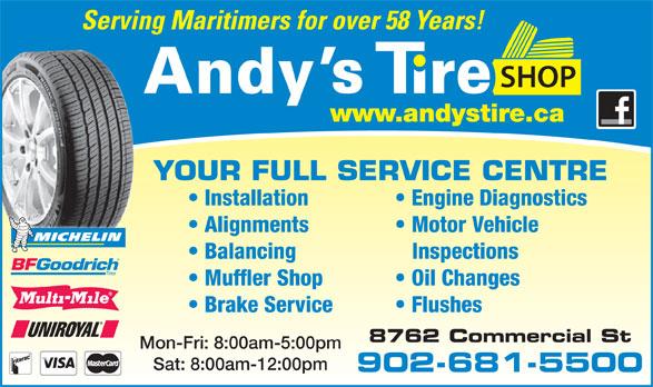Ads Andys Tire Shop