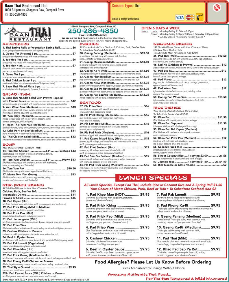 Thai Restaurant Campbell Ca