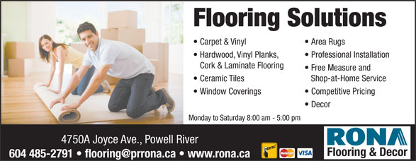 Rona Building Centre 4750 Joyce Ave Powell River Bc