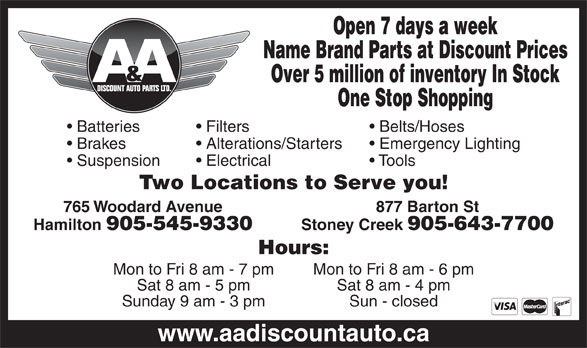 Ads A&A Discount Auto Parts