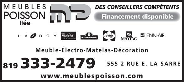 Meubles poisson lt e 555 2e rue e la sarre qc for Meuble accent la sarre