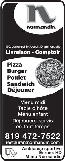 Restaurant Normandin (819-472-7522) - Display Ad -