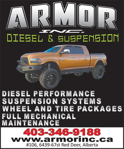 Armor Inc Diesel & Suspension (403-346-9188) - Display Ad -