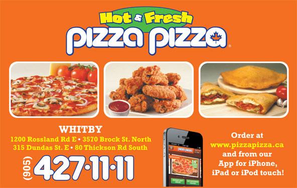 Pizza Pizza (905-427-1111) - Annonce illustrée======= -