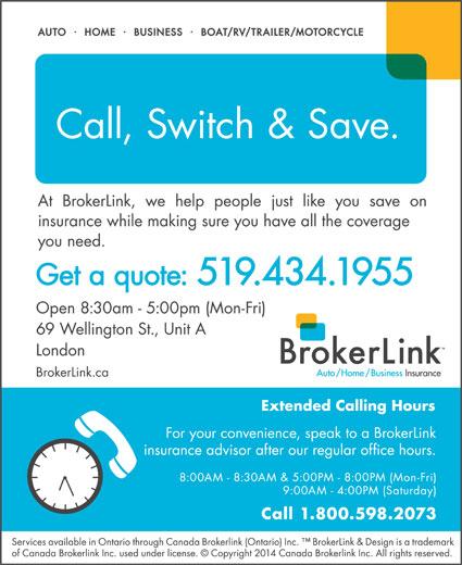 BrokerLink (519-434-1955) - Display Ad -