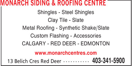 Monarch Siding Amp Roofing Centre 13 Belich Crescent Red