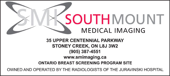 SouthMount Medical Imaging (905-387-4551) - Display Ad - SOUTH MOUNT SMI MEDICAL IMAGING SOUTH MOUNT SMI MEDICAL IMAGING