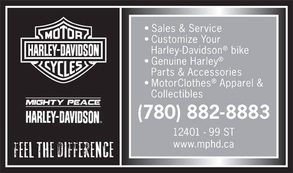 Mighty Peace Harley-Davidson (780-882-8883) - Display Ad -