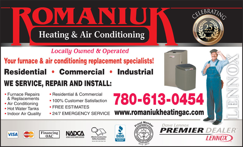 Romaniuk Heating Amp Air Conditioning Ltd Edmonton Ab