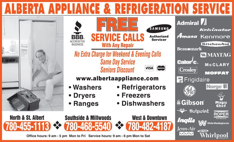 Alberta Appliance Service Edmonton Ab 3613 Goodridge