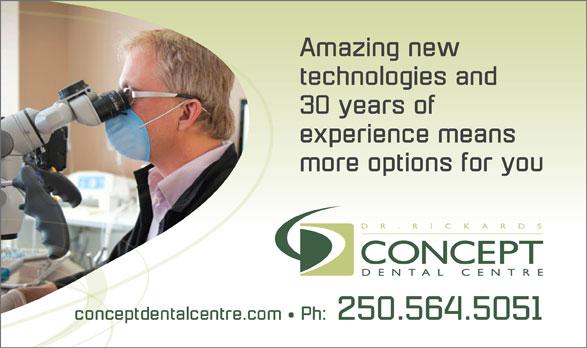 Concept Dental Centre (250-564-5051) - Annonce illustrée======= -