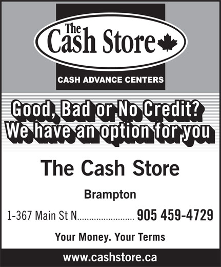 The Cash Store (905-459-4729) - Display Ad -