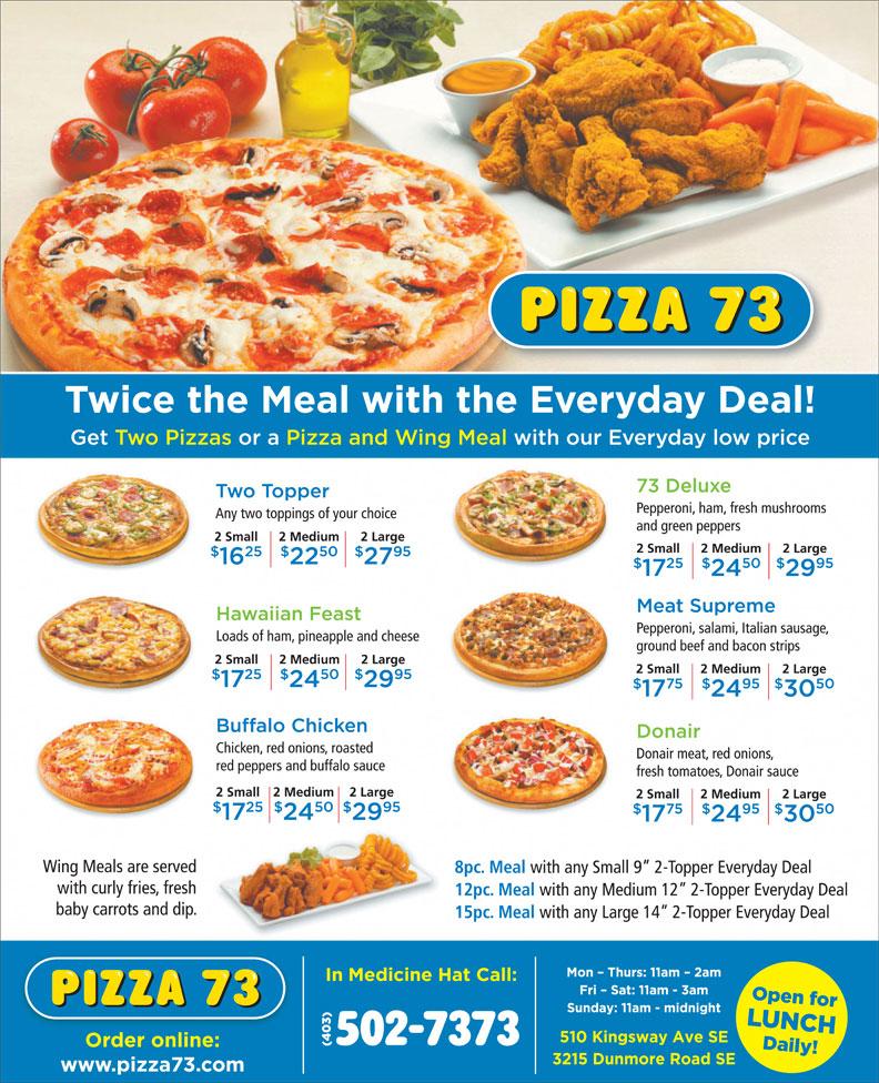 Pizza 73 (403-502-7373) - Annonce illustrée======= -