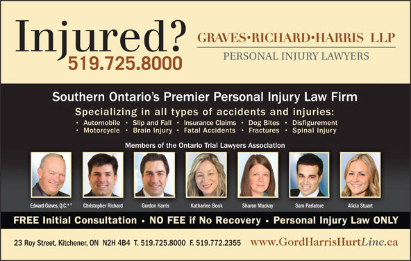 Gordon W Harris Professional Corporation (519-725-8000) - Display Ad -