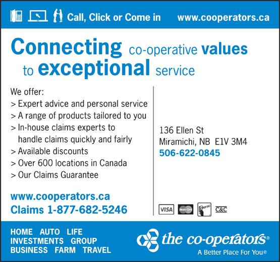 The Co-operators (506-622-0845) - Annonce illustrée======= -