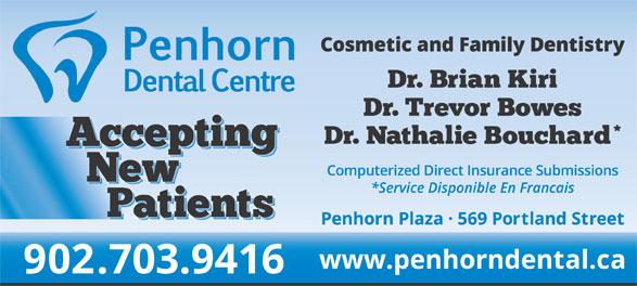 Penhorn Dental Centre (902-465-4210) - Annonce illustrée======= -