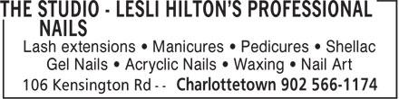 The Studio - Nails Specialists (902-566-1174) - Annonce illustrée======= -