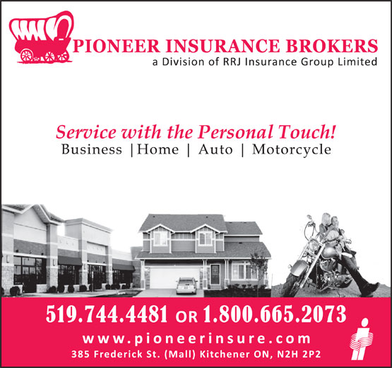 Pioneer Insurance (519-744-4481) - Display Ad -