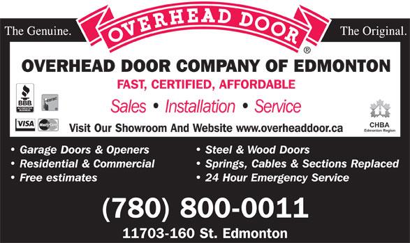 Overhead door company edmonton overhead door company of for Interior design companies edmonton